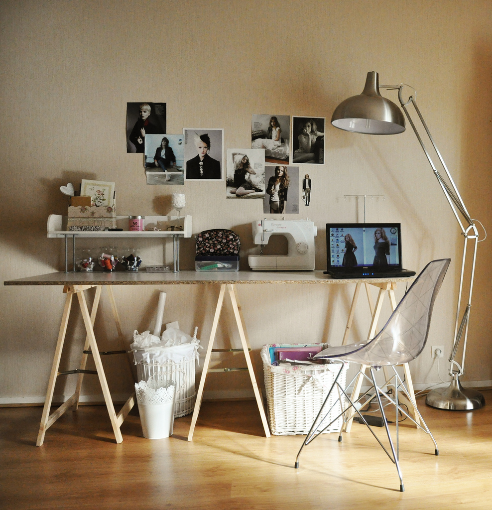 Coin bureau blog maman mode et beaut for Bureau treteau ikea