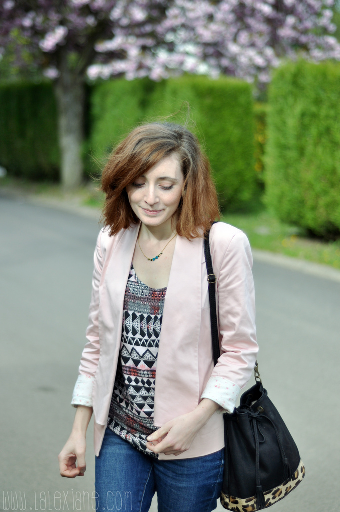 Look blog mode veste rose