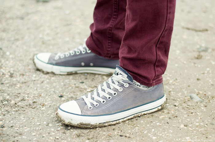 Converses look homme plage