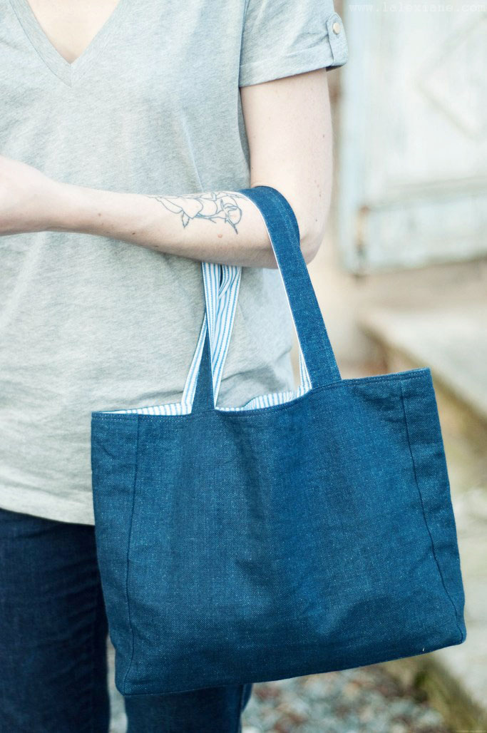 Sac à main en jean DIY couture