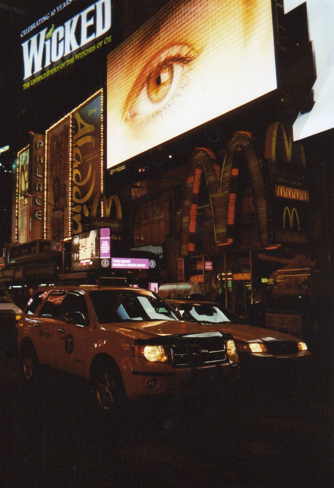 Taxi jaune New-York Times Square