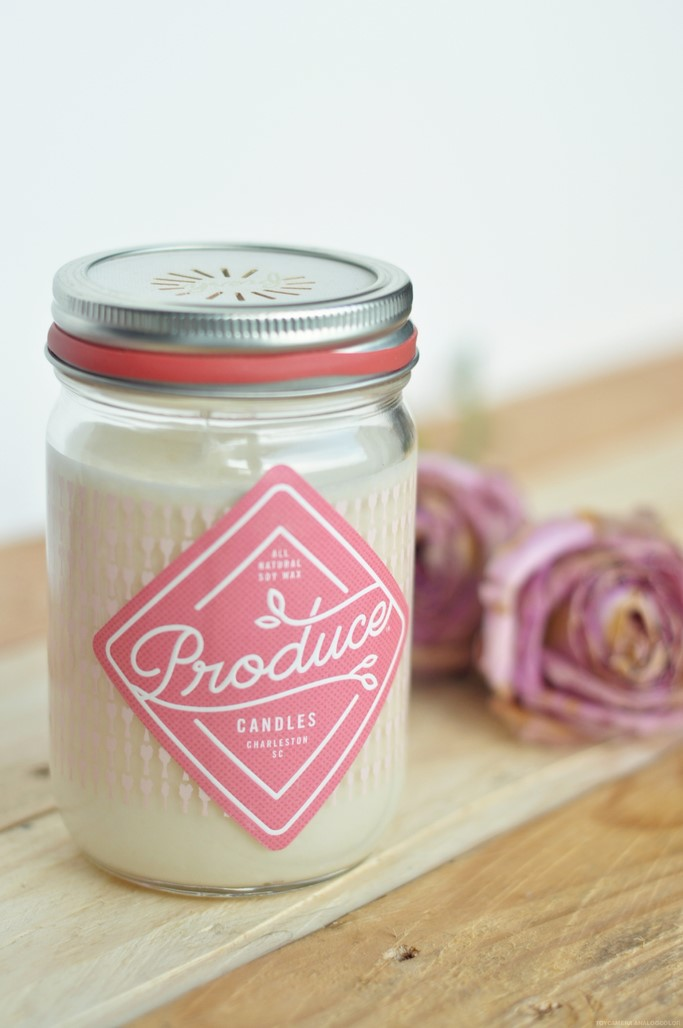 Bougie rhubarbe Produce Candles