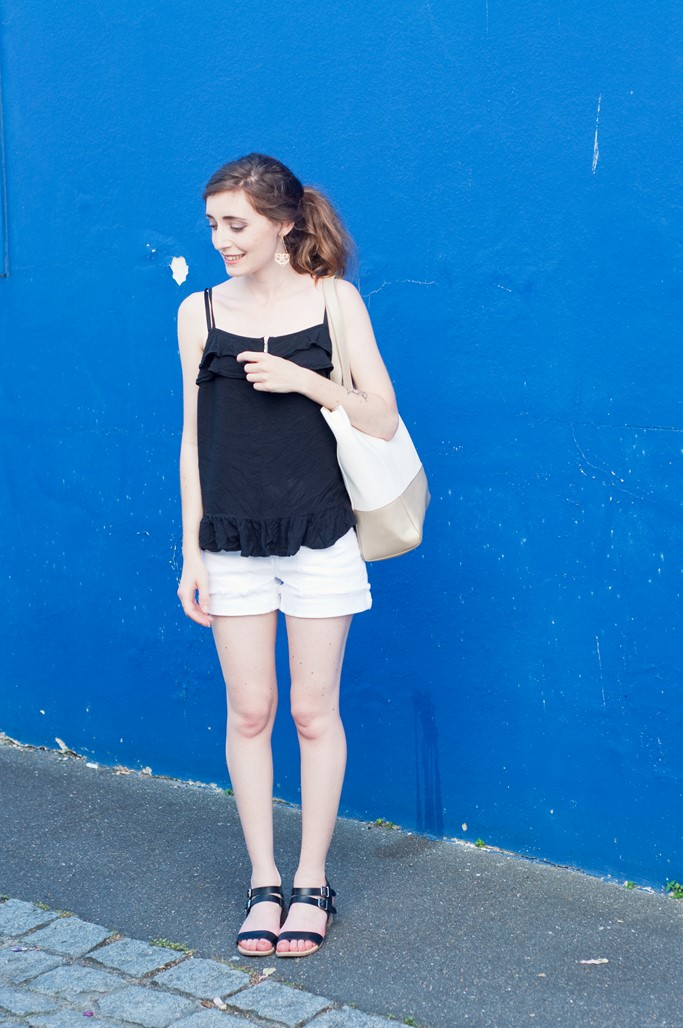 Look short blanc blog mode Alexiane