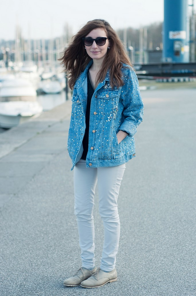 Look veste en jean Alexiane blog mode