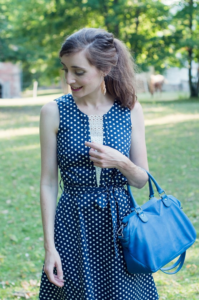 Look robe a pois annees 50 sytle retro blog mode Alexiane