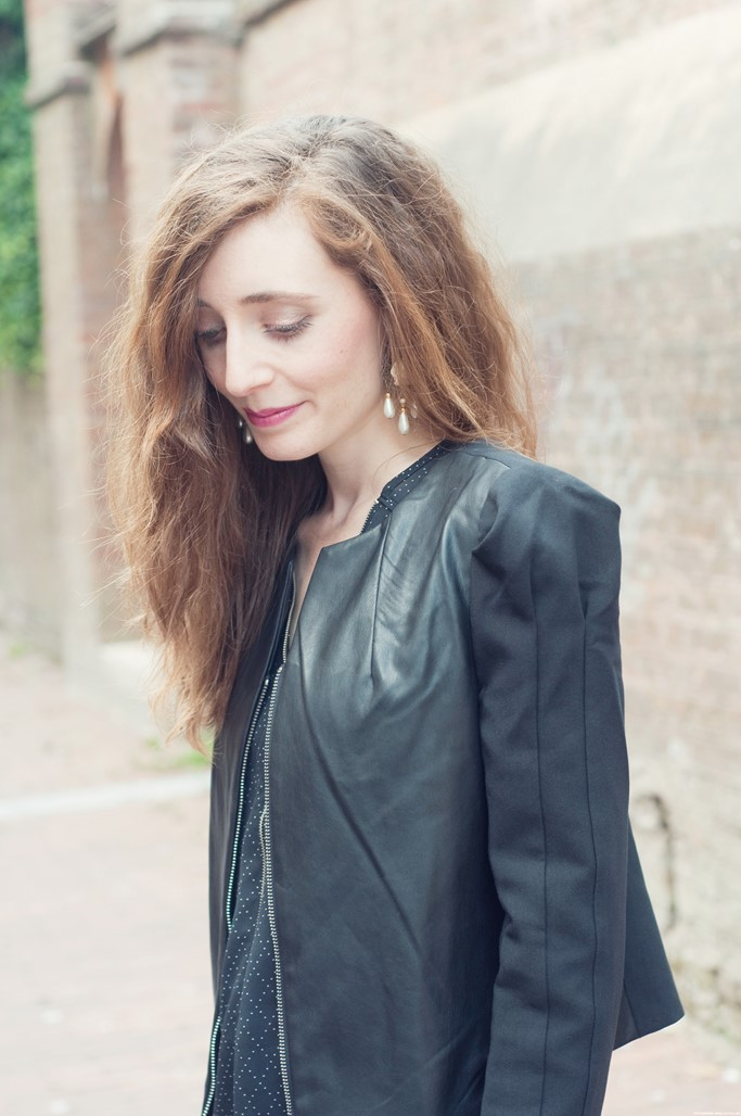 Veste noire Jus d'Orange Paris blog mode Alexiane