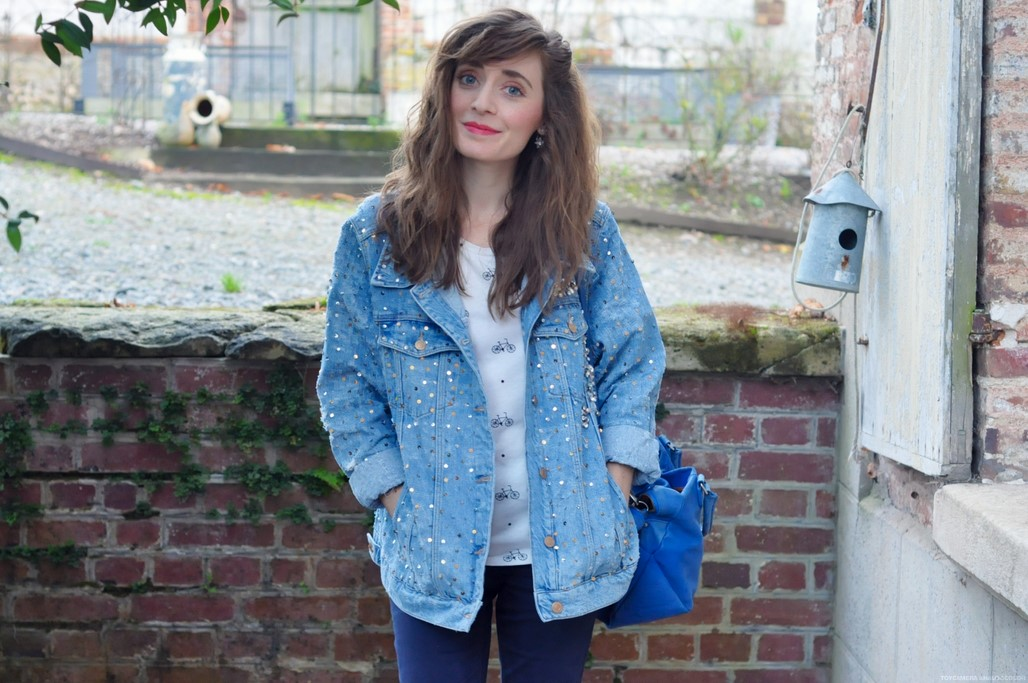 Look veste en jean blog mode Alexiane