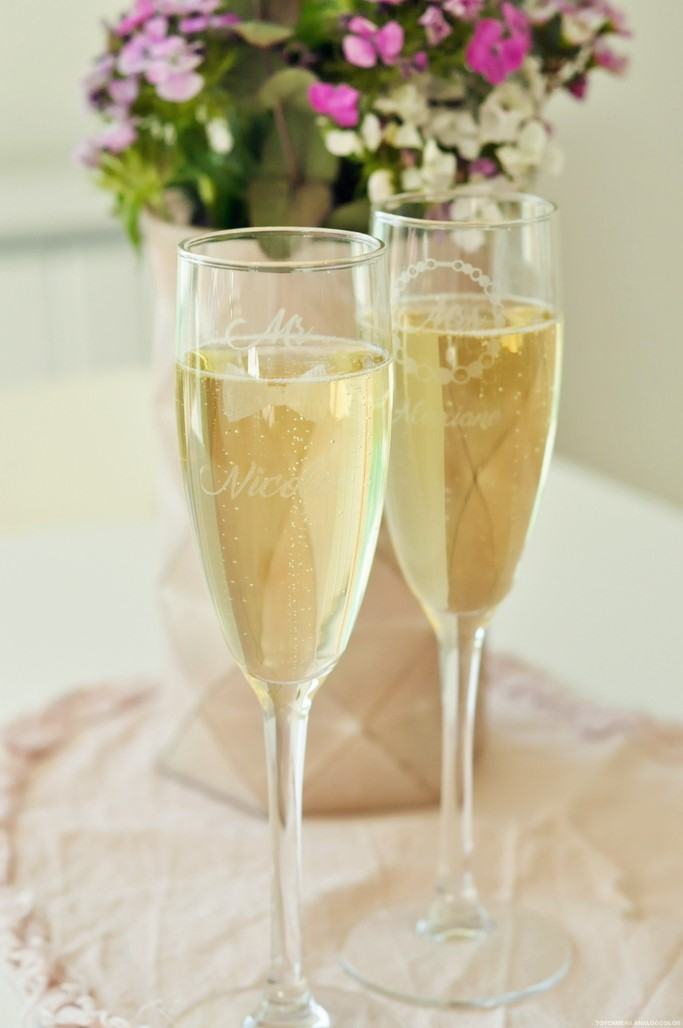 Flutes verre champagne personnalise Mr Mrs mariage