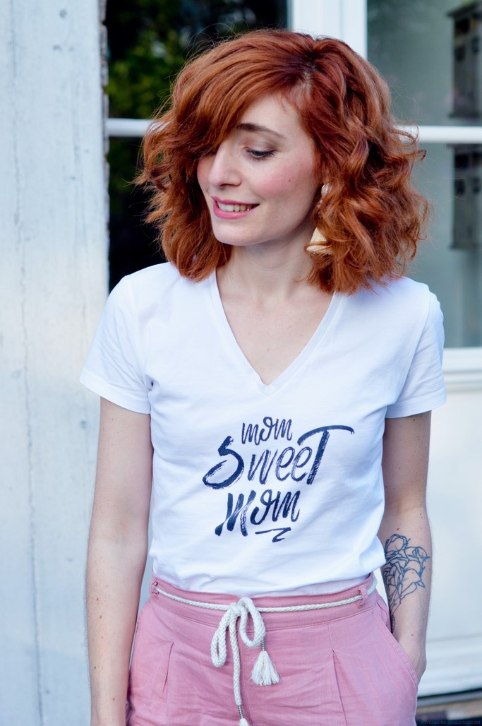 Look t-shirt Mom sweet mom Tunetoo blog mode Alexiane maman