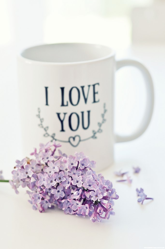 Mug I love you blanc Tunetoo blog Maman Alexiane