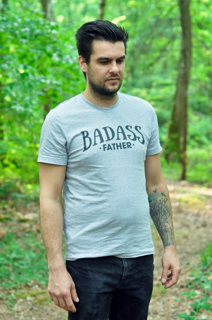 T-shirt gris Badass father Tunetoo personnalise blog mode homme Picardie