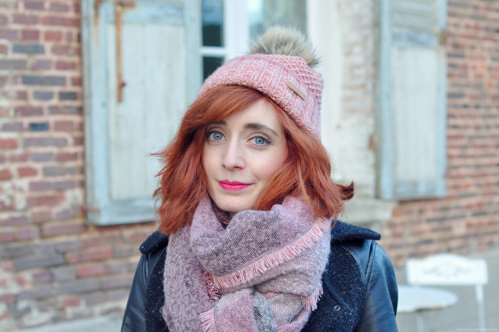 Look rousse bonnet Bart Headict blog mode Alexiane