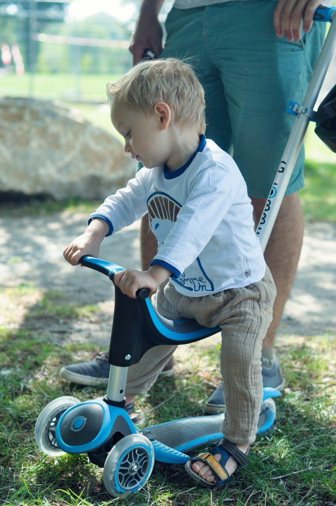 Trottinette GLOBBER My Free Evo 4 en 1 plus bleue enfant