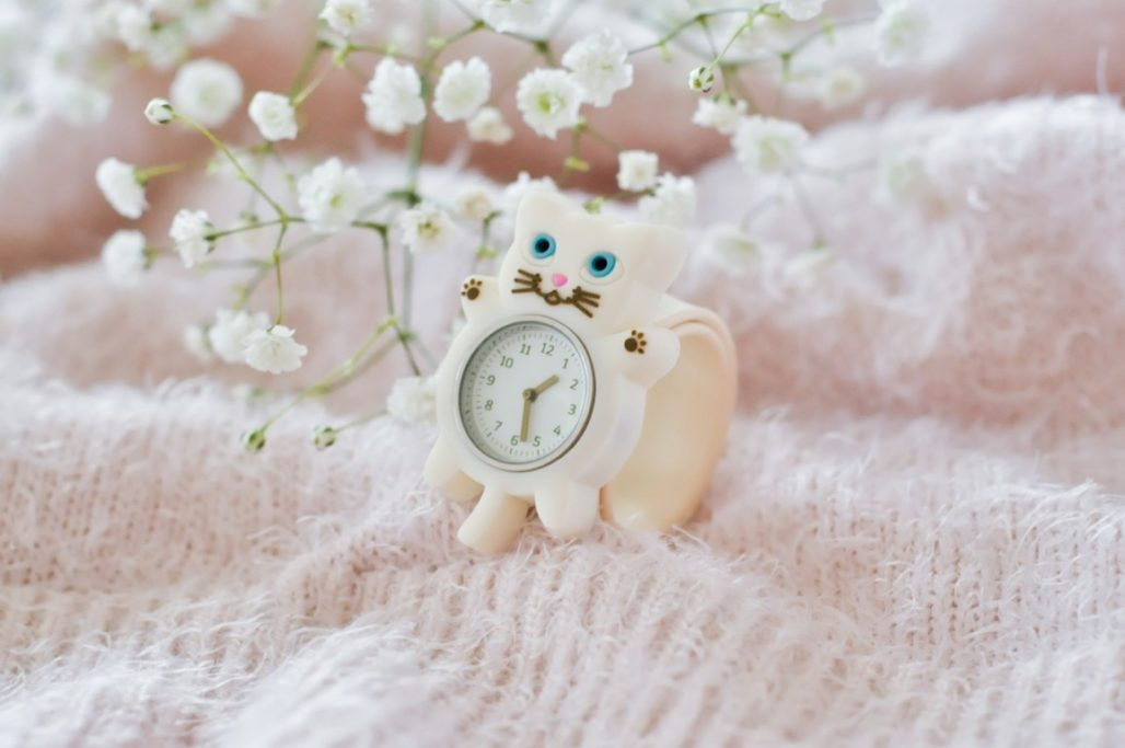 Montre enfant chat blanc FUNNY TIME PYLONES blog Maman Alexiane