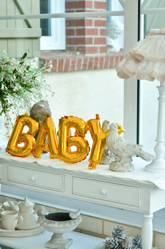 Ballon doré BABY gender reveal party baby shower