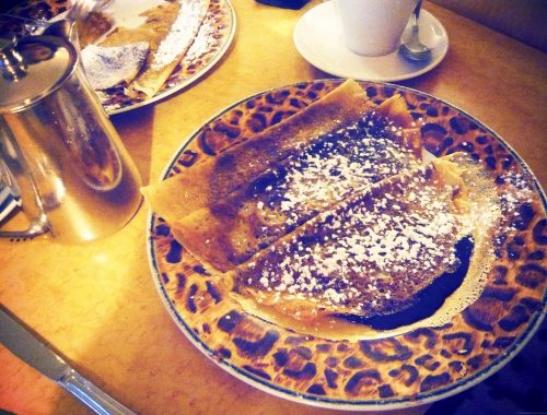 Crepes assiettes leopard